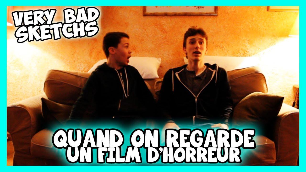 QUAND ON REGARDE UN FILM D'HORREUR - Paul Gz - YouTube