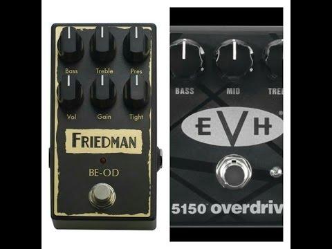friedman be od pedal vs the mxr 5150 pedal youtube. Black Bedroom Furniture Sets. Home Design Ideas