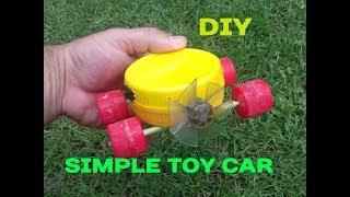 Comment Faire une Mini Voiture À la Maison jouet avec Moteur DC Très Simple de BRICOLAGE