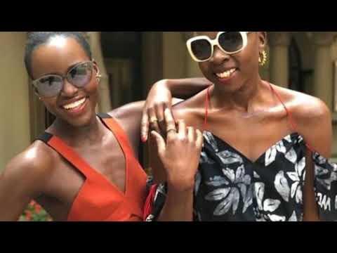 Lupita Nyong'o dons orange dress in pics with Danai Gurira