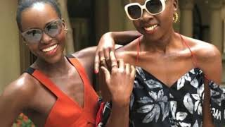 Lupita Nyong'o dons orange dress in pics with Danai Gurira