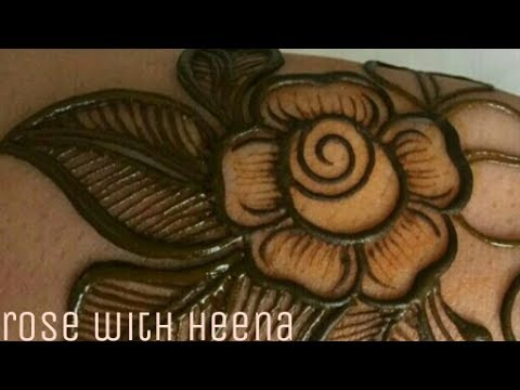How To Make Rose With Mehndi Just Simple Step For Beginner Youtube