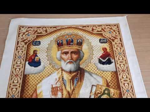 Николай чудотворец крестом вышивка
