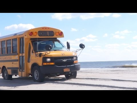 Ride On Beach and Go Inside The Fire Island School