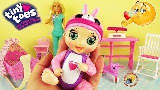 Милые пупсики TINY TOES Интерактивная кукла для девочек Обзор Игрушки Baby Dolls Play