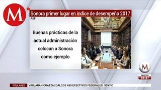 ASF: Sonora, primer lugar en el Índice de Desempeño del Gasto Público