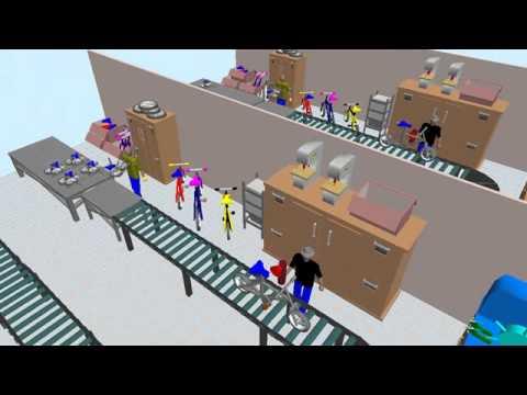 Rockwell Arena simulation 3D - Bike manufacturer - YouTube