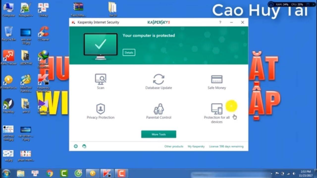 Phần mềm diệt Virus | Hướng dẫn tải-cài đặt phần mềm diệt Virus Kaspersky