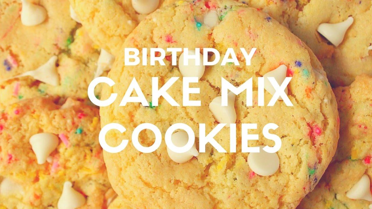 Birthday Cake Mix Cookies Recipe Youtube