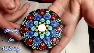 How To Paint Dot Mandalas #15 Carousel Wood Magnet