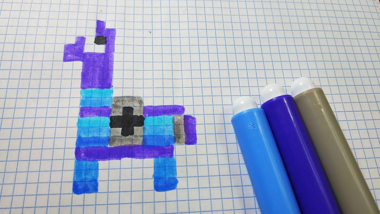 Como Hacer Un Llama De Fortnite Hama Beads Pixel Art