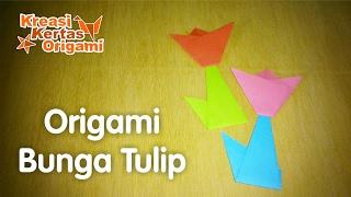 Cara Membuat Origami Bunga Tulip yang Mudah