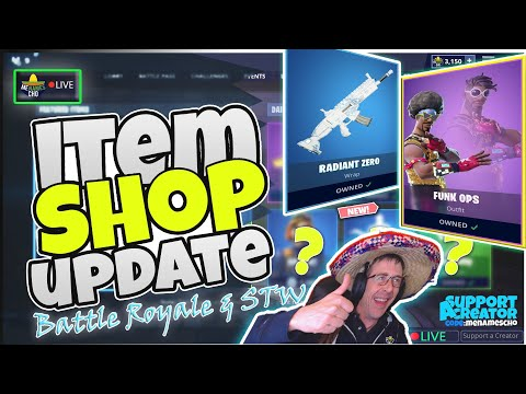 💥menamescho's-live-🔵-radiant-zero-wrap-✨-item-shop-update-fortnite-battle-royale-11th-august-2019