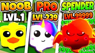 ROBLOX NOOB vs PRO vs ROBUX SPENDER in GHOST SIMULATOR