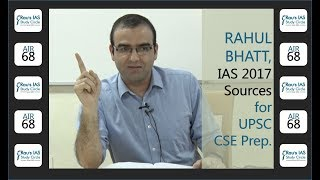 Book-list and Sources for IAS Exam by UPSC Topper Rahul Bhatt, AIR 68, CSE 2017