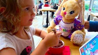Funny Bunny Дайте ИМЯ зайчику милашке SHOPPING  игрушек и одежды Новый Питомец Кати BAB SUPER TOY