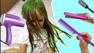 Silicone Baby Big Sister Hair Makeover Again I Reborn Kid Doll Malia! malia. 検索動画 3