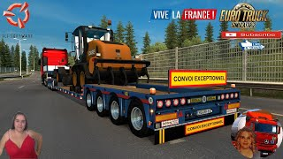 """Euro Truck Simulator 2 (1.38 Open Beta)   Doll Vario Panther 7 Axle by Roadhunter Very Heavy Jobs Iveco S-Way v2.5 by HBB Store Delivery to Lyon DLC Vive la France by SCS Software Motorcycle Traffic Pack by Jazzycat FMOD ON and Open Windows Naturalux Graphics and Weather Test Gameplay ITA Europe Reskin v1.0 by Mirfi + DLC's & Mods  SCS Software News Iberian Peninsula Spain and Portugal Map DLC Planner...2020 https://www.youtube.com/watch?v=NtKeP0c8W5s Euro Truck Simulator 2 Iveco S-Way 2020 https://www.youtube.com/watch?v=980Xdbz-cms&t=56s  #TruckAtHome #covid19italia Euro Truck Simulator 2    Road to the Black Sea (DLC)    Beyond the Baltic Sea (DLC)   Vive la France (DLC)    Scandinavia (DLC)    Bella Italia (DLC)   Special Transport (DLC)   Cargo Bundle (DLC)   Vive la France (DLC)    Bella Italia (DLC)    Baltic Sea (DLC)   American Truck Simulator New Mexico (DLC) Oregon (DLC) Washington (DLC) Utah (DLC)     I love you my friends Sexy truck driver test and gameplay ITA  Support me please thanks Support me economically at the mail vanelli.isabella@gmail.com  Roadhunter Trailers Heavy Cargo  http://roadhunter-z3d.de.tl/ SCS Software Merchandise E-Shop https://eshop.scssoft.com/  Euro Truck Simulator 2 http://store.steampowered.com/app/227... SCS software blog  http://blog.scssoft.com/  Specifiche hardware del mio PC: Intel I5 6600k 3,5ghz Dissipatore Cooler Master RR-TX3E  32GB DDR4 Memoria Kingston hyperX Fury MSI GeForce GTX 1660 ARMOR OC 6GB GDDR5 Asus Maximus VIII Ranger Gaming Cooler master Gx750 SanDisk SSD PLUS 240GB  HDD WD Blue 3.5"""" 64mb SATA III 1TB Corsair Mid Tower Atx Carbide Spec-03 Xbox 360 Controller Windows 10 pro 64bit"""