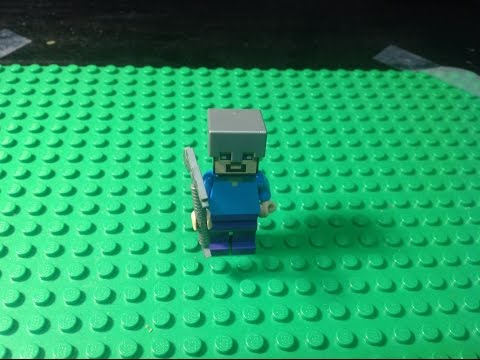 Lego Minecraft -  Don't Mine At Night!