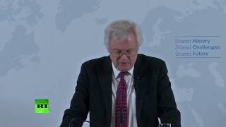 LIVE: David Davis gives Brexit speech in Austria