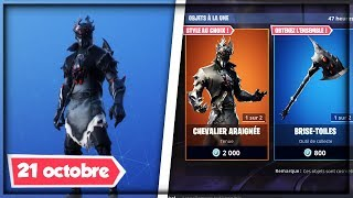 "NEW SKIN ""ARACHNIDE"" BOUTIQUE FORTNITE OF OCTOBER 21, 2018!"