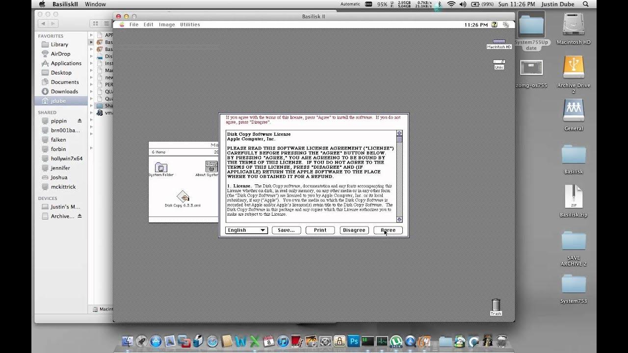 Upgrading your Basilisk 7.5.3 Apple System OS Install to 7.5.5 under