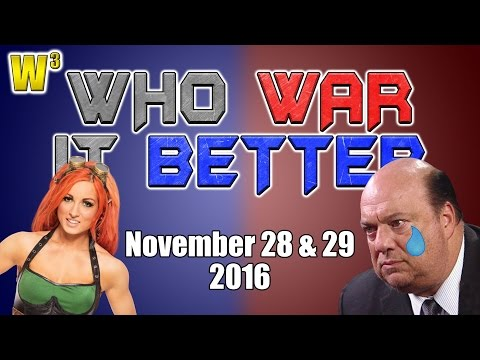 Paul Heyman Cries! Becky Lynch Flies! | Who War It Better