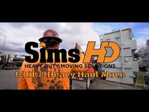 130,000# substation transformer haul - Sims HD Heavy Hauling