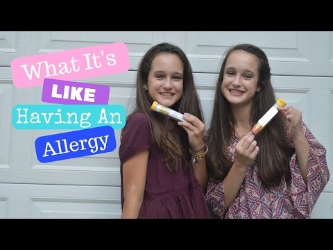 Living with a PEANUT ALLERGY | Caroline and Olivia