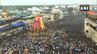 Jagannath Rath Yatra begins as thousands of devotees watch on Puri streets