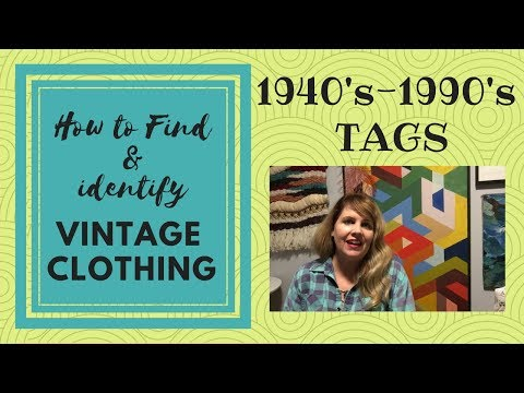 How to Find Vintage Clothing 40's-90's TAGS