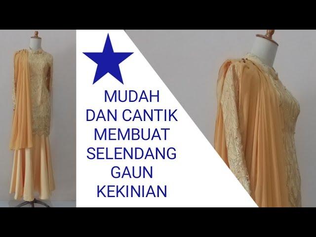 Cara Memasang Selendang Di Baju Gamis Youtube