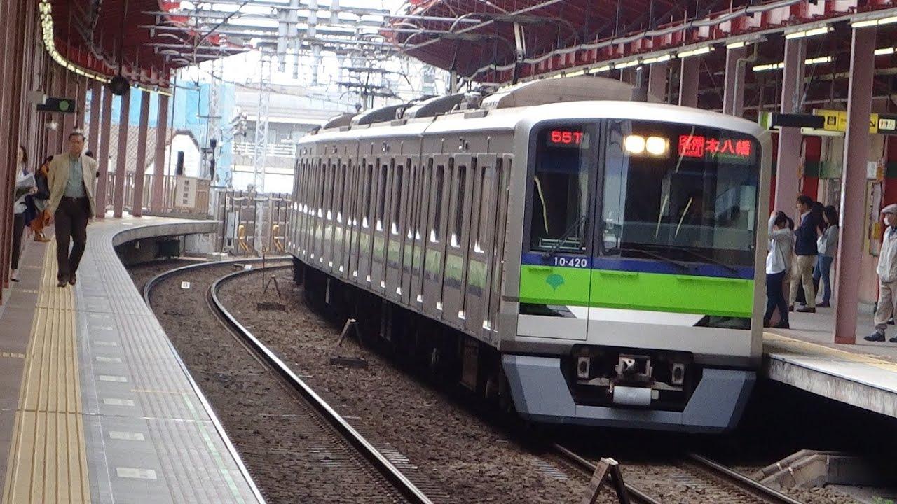 【2015年4月】都営新宿線10-300R形10-340Fと10-300形10-420F 船堀駅 - YouTube