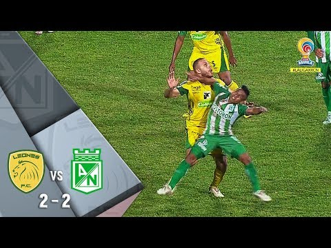 Leones vs Nacional: resumen y goles del empate 2-2 Liga Águila 2018-II - Fecha 19