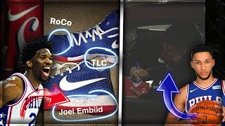 I MET JOEL EMBIID AND BEN SIMMONS! (THEY SIGNED MY SHOES!)