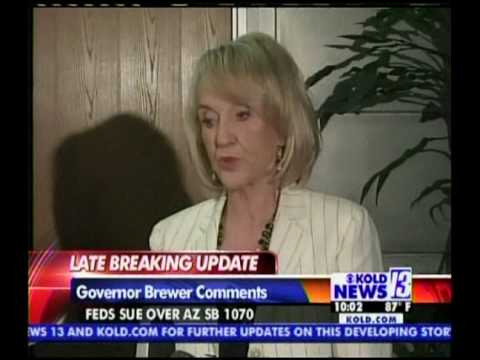 Jan Brewer reacts on Fed's sueing Arizona