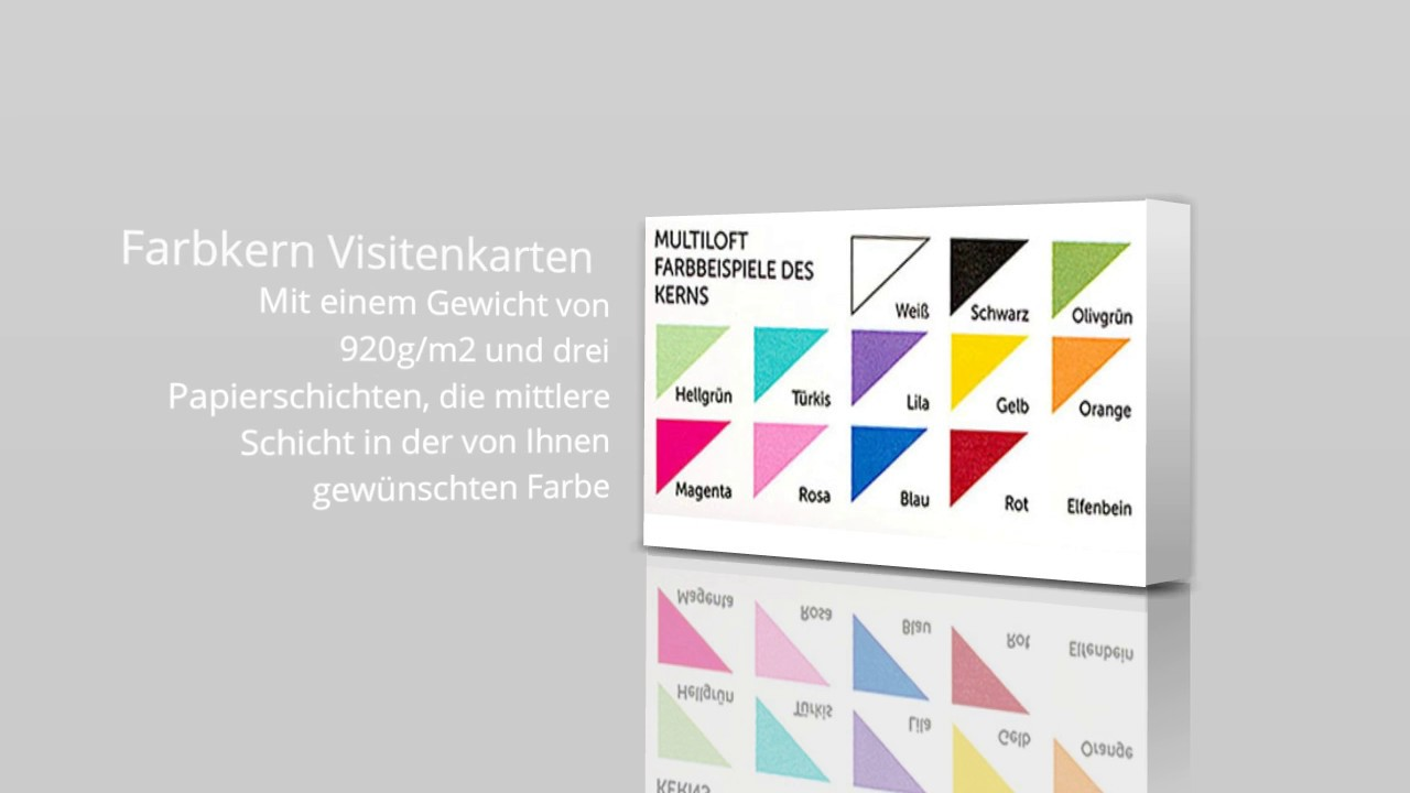 Multiloft Visitenkarten Farbkern
