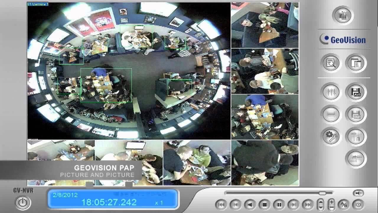 Geovision Gv Fe420 360 Degree Ip Security Camera Youtube