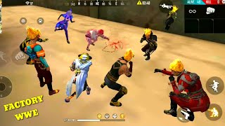 FREE FIRE FACTORY WWE BOOYAH 44- FF FIST FIGHT ON FACTORY ROOF - AWESOME GAMEPLAY - GARENA FREE FIRE