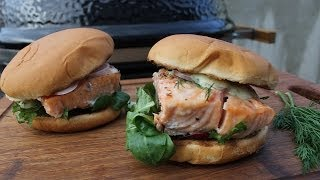 Cedar Planked Salmon Burger - English Grill- And Bbq-recipe - 0815bbq
