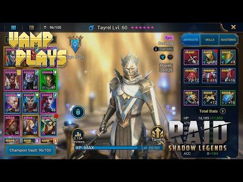 RAID: Shadow Legends | Tayrel Guide (Revisited) | Vamp Plays