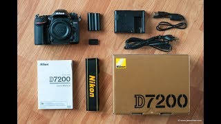 UNBOXING Nikon d7200 with 18-105mm AF-S ED ID VR Lens(My reviews)