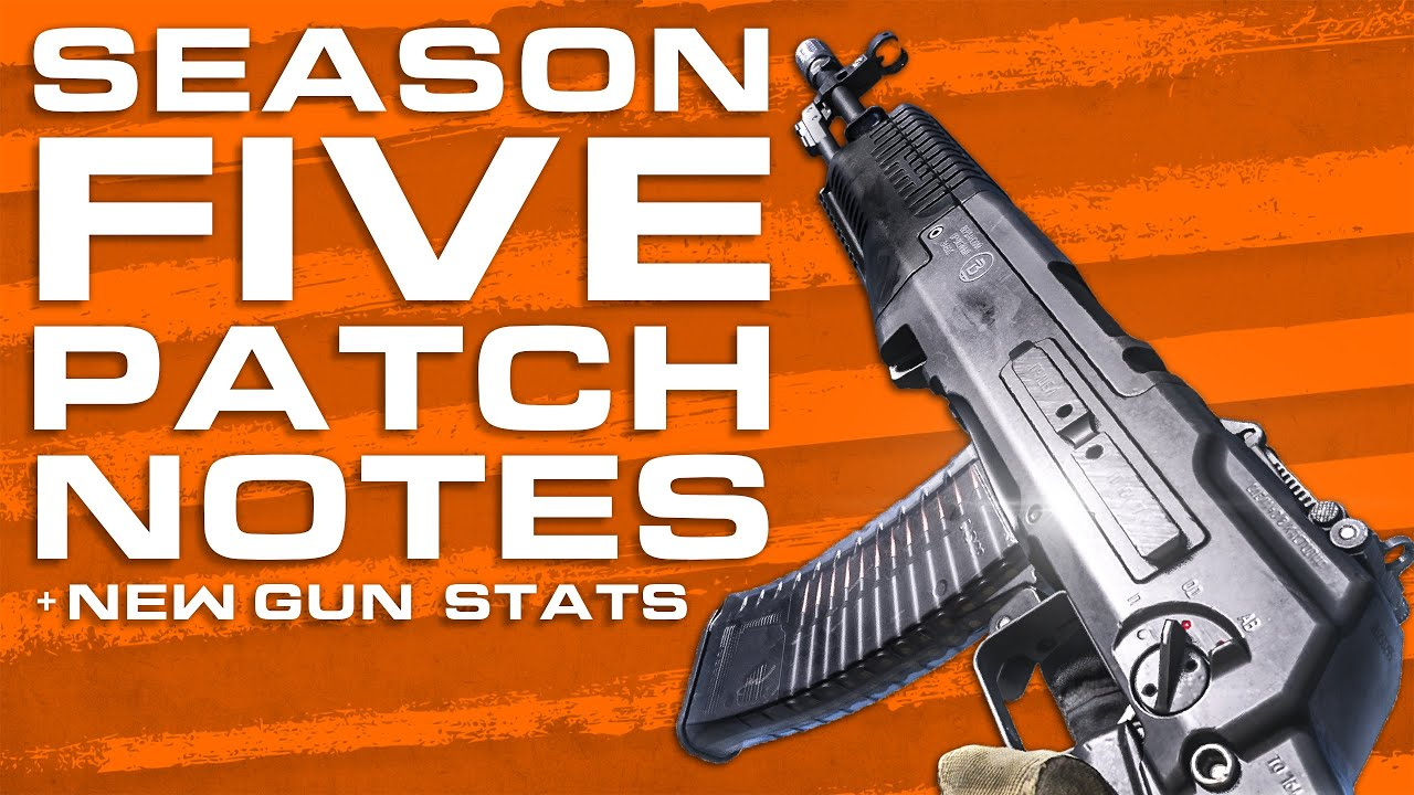 Season 5 Patch Notes An 94 Iso Smg Stats Modern Warfare In