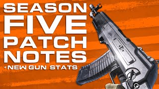 Season 5 Patch Notes + AN-94 & ISO SMG Stats (Modern Warfare In Depth)