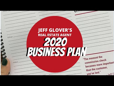 Jeff Glover's Real Estate Agent Business Plan For 2020