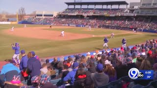 Fans take in the Syracuse Mets home-opener