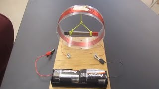Tangent galvanometer experiment///Homemade Science with Bruce Yeany