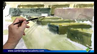 How To Paint A Formal Garden With Watercolour