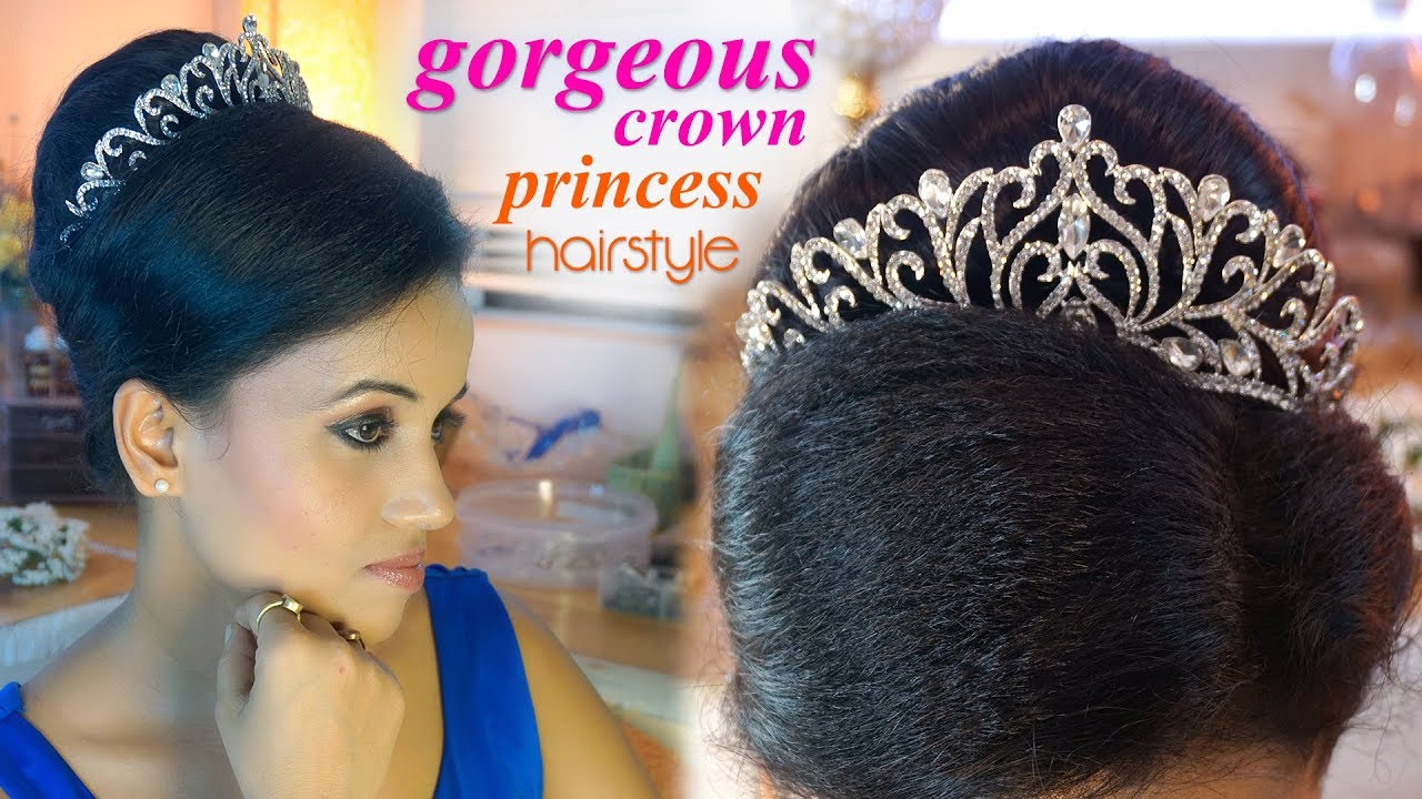 Gorgeous Crown Princess Hairstyle Beautiful Peg Ant Looks Youtube