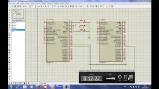 cours PIC N27: communication entre 2 microcontroleur PIC16F877  UART TX RX التواصل بين الميكروكنترلر
